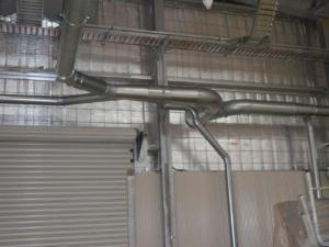 Dust control extraction system ducting